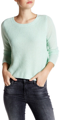 Kinross Cropped Cashmere Tuck Stitch Sweater $124.97 thestylecure.com