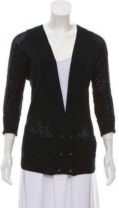 Mayle Double-Breasted Crochet Cardigan