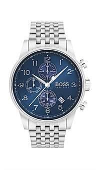 Boss Black Hugo Gents Navigator Chrono Ss Rnd Blu Dial Ss Bracelet