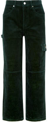 Kith - Rya Cotton-corduroy Boyfriend Pants - Forest green