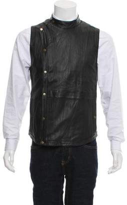 Robert Geller 2013 Asymmetrical Zip Leather Vest