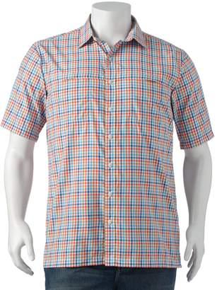 Arrow Big & Tall Traveler Plaid Casual Button-Down Shirt