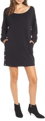 Hudson Jeans Snap Sweatshirt Dress