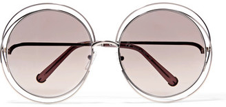 Chloé - Carlina Round-frame Gold-tone Sunglasses - one size