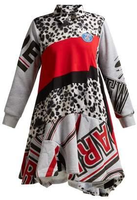Koché Koche - Graphic Print Cotton Blend Dress - Womens - Multi