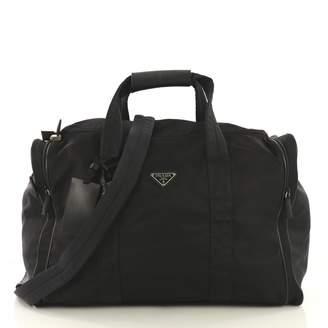 ac5ef1e6b47678 Prada Black Cloth Travel Bag