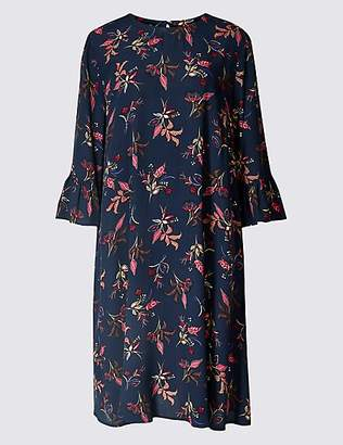 Twiggy for M&S Collection Printed 3/4 Sleeve Swing Dress
