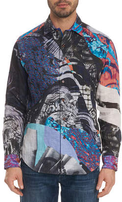 Robert Graham Men's Hooked On You Limited Edition Classic Fit Graphic Sport Shirt