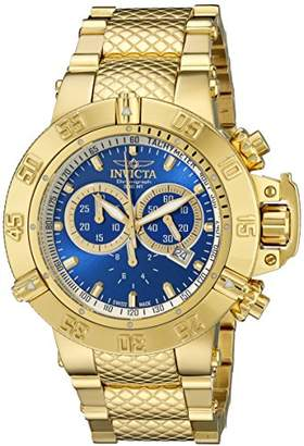 Invicta Men's 14501 Subaqua Noma III Chronograph Dial 18k Gold Ion-Plated Stainless Steel Watch