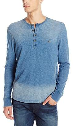 True Religion Men's Henley Long Sleeve Shirt