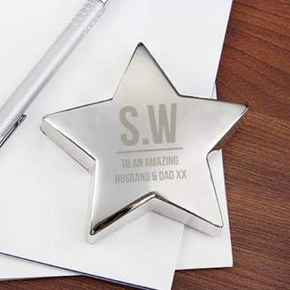 Hurley Sarah Personalised Initial Star Paperweight