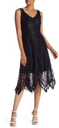 Taylor Tassel Trim Lace Midi Dress