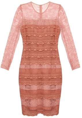 Burberry Tiered French-lace dress