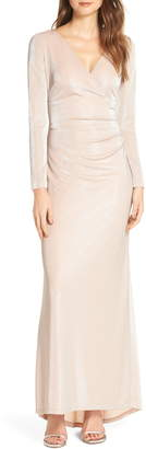 Vince Camuto Wrap Evening Dress