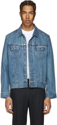 A.P.C. Indigo Denim US Jacket $290 thestylecure.com