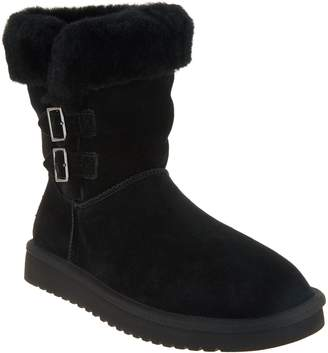 e66345c239da Koolaburra By Ugg by UGG Suede Short Boots with Buckles - Sulana