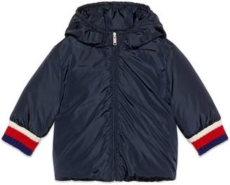 Gucci Baby nylon jacket with logo