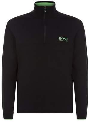 BOSS GREEN Half-Zip Funnel Neck Sweater