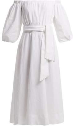 Alöe Gabriela Hearst - Riley Vera Infused Linen Dress - Womens - White