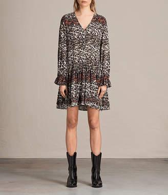AllSaints Alia Juba Silk Dress