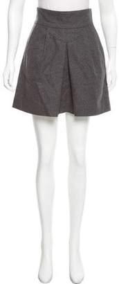 Veronica Beard Wool-Blend Mini Skirt
