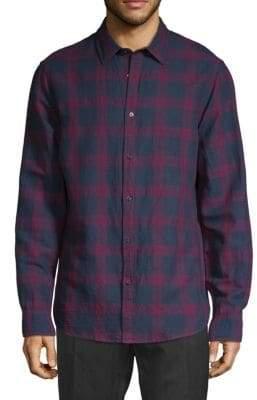 Michael Kors Printed Classic-Fit Button-Down Shirt