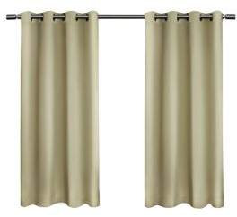 Home Outfitters Set of 2 Twill Weave Curtain Panels
