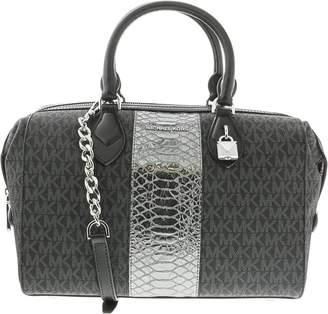 Michael Kors Women's Large Grayson Convertible Leather Top-Handle Bag Satchel
