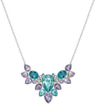 Swarovski Eglantine Prong Set Multi Color Crystal Cluster Necklace