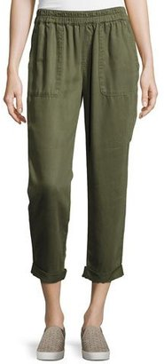 Soft Joie Saphine Cropped Chino Pants, Green $178 thestylecure.com