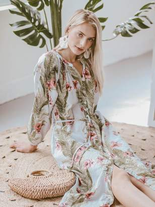 Goodnight Macaroon 'Evelyn' Tropical Floral Print Beach Cover-Up