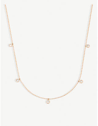 Rosegold The Alkemistry Kismet by Milka 14ct rose-gold and diamond necklace