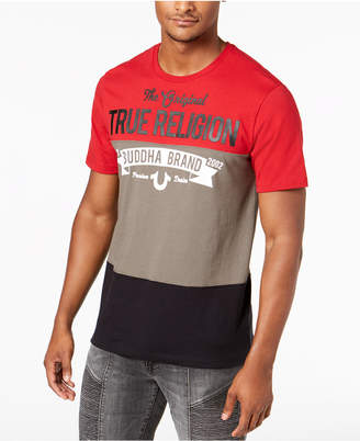 True Religion Men's Colorblocked Logo Graphic T-Shirt