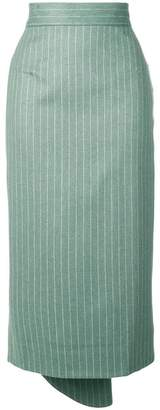 Walk Of Shame striped high waisted skirt