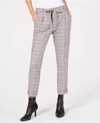 Marella Parure Plaid Tie-Waist Pants