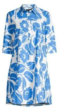 Piazza Sempione Floral Cotton Shirtdress