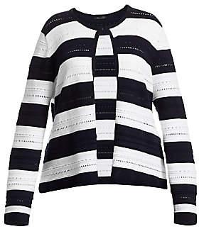 Marina Rinaldi Marina Rinaldi, Plus Size Women's Mais Striped Pointelle Knit Cardigan