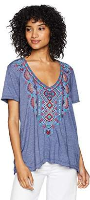 Johnny Was JWLA By Women's Embroidered Relaxed T-Shirt