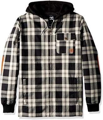 DC Men's Backwoods Insulated Flannel Shirt Jacket Water Resistant