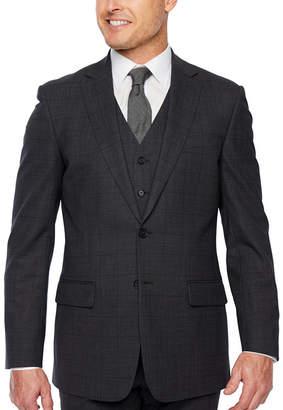 Claiborne Windowpane Classic Fit Stretch Suit Jacket
