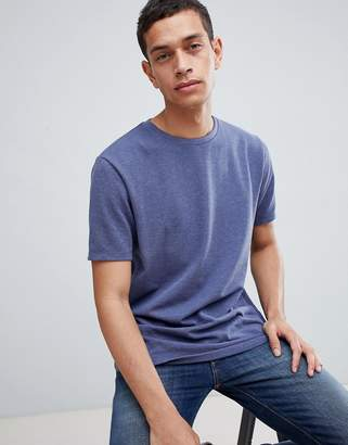 Asos DESIGN relaxed fit t-shirt in pique in blue