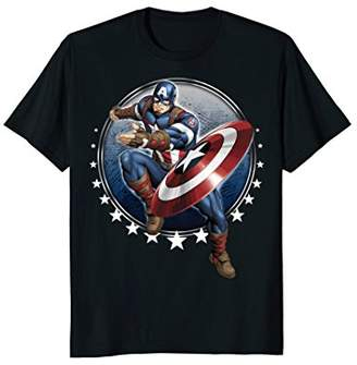 Marvel Captain America Shield Throw Stars Graphic T-Shirt