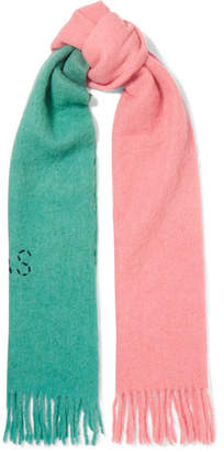 Acne Studios Kelowna Two-tone Embroidered Felt Scarf - Pink