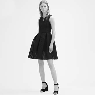 Maje Basketweave-knit sleeveless dress