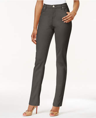 Lee Platinum Petite Gwen Straight-Leg Jeans, A Macy Exclusive