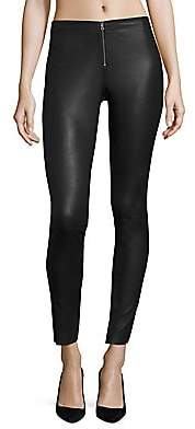 Alice + Olivia Women's Front-Zip Leather Legging