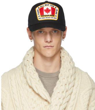 DSQUARED2 Black Canada Patch Baseball Cap
