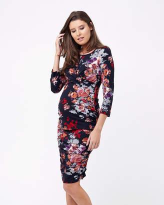 Ripe Maternity Blossom Cross Your Heart Dress - 3/4 Sleeve