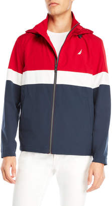 Nautica Hooded Color Block Jacket