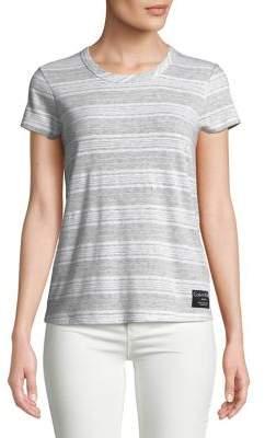 Calvin Klein Jeans Short-Sleeve Striped Tee